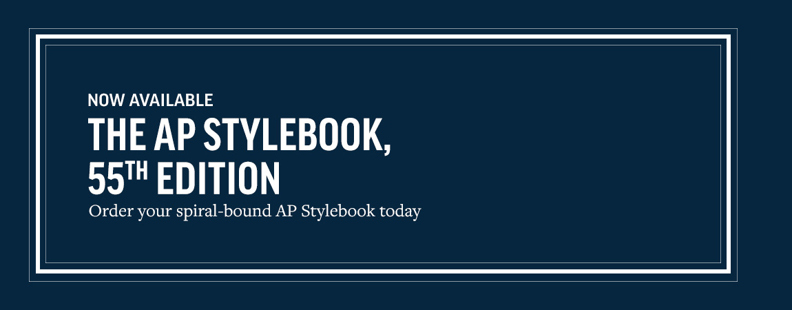 AP Stylebook 55th edition