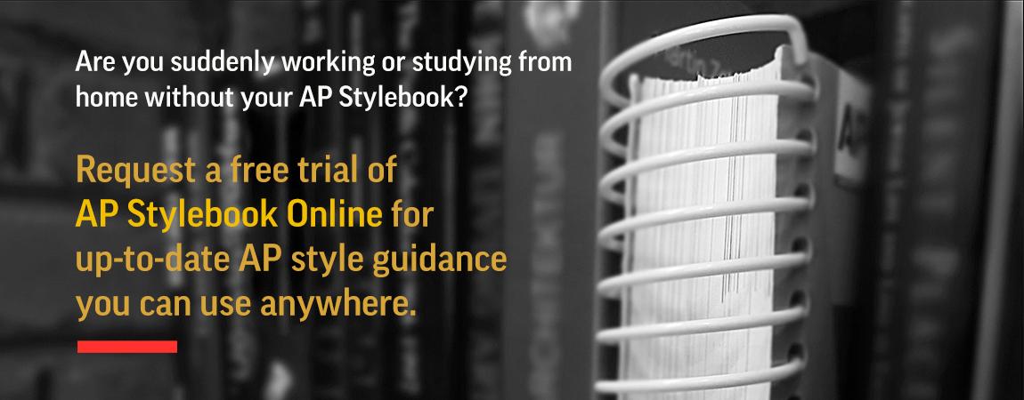 AP Stylebook Online free trial
